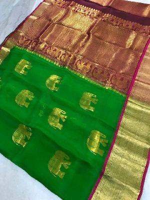 Kanchi Organza Silk Sarees