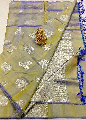 Kanchipuram Instrumental Pattu Silk Sarees