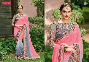 mintorsi suvarna georgette designer work sarees