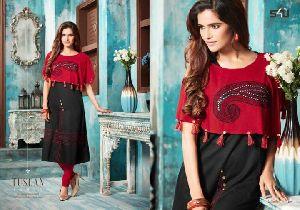 S4u La Exotic Silk Designer Kurtis Catalog At Wholesale Available