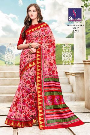 shangrila kanjivaram vol7 silk printed sarees