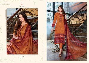 Sudriti Vidita Cotton Satin Printed Churidar Suits