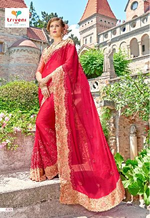 triveni padmavati designer work georgette sarees at wholesale