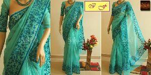 Aari Work Designer Sarees With Running Blouse