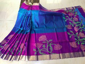 Gadwal Soft Jute Silk Sarees