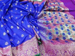 Handloom Banarasi Crepe Katan Silk Sarees
