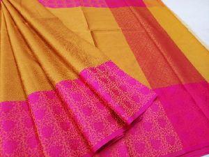 Handloom Banarasi Tanchoi Kora Silk Sarees
