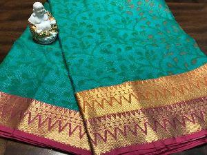 Printed Muslin Silk Sarees With Rich Pallu