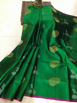 Pure Handloom Gadwal Soft Silk Sarees