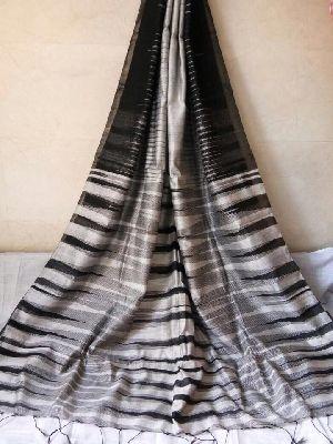 Pure Handloom Ikkat Silk Cotton Sarees With Blouse