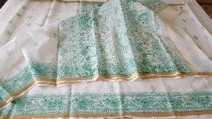 Pure Kota Doria Cotton Sarees With Blouse