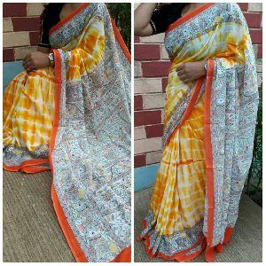 Shibori Printed Dye Sarees
