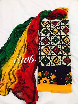 Swb Jaipuri Soft Cotton Batik Printed Suits