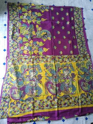 Kalamkari Silk Saree