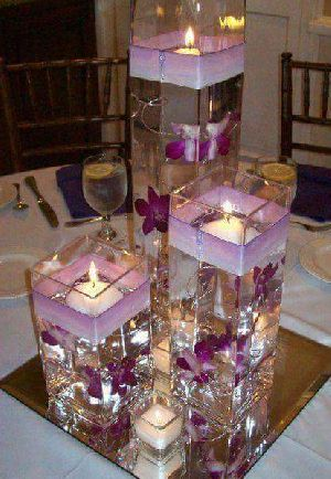 Glass Table Top Candle Holders