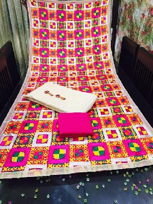 Phulkari Work Dupatta Chanderi Suits