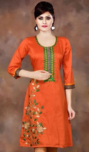 cotton embrodiered kurtis