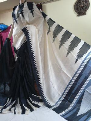 Elegant Pure Murshidabad Printed Silk Sarees
