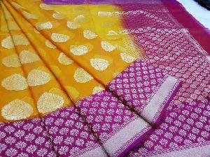 Handloom Banarasi Organza Jute Net Sarees
