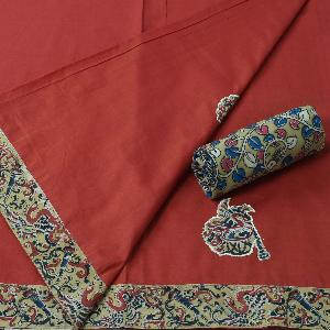kalamkari applique work sarees