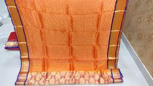 Kanchi Organza Tissue Heavy Zari Sarees