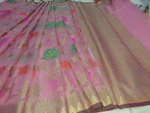 Kora Muslin Silk Banaras Sarees