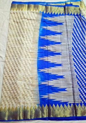 Kicha Work Organza Silk Sarees
