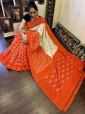 Pochampally Ikkat Mercedized Cotton Sarees