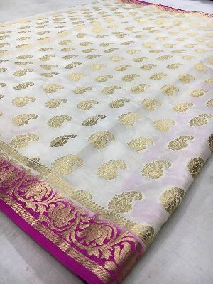 Raw Silk Sarees With Butta Work