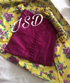 Readymade Cotton Patiala Suits