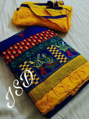 Satin Cotton Embroidery Suits