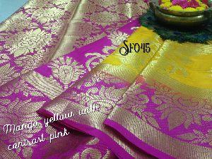 Sf Full Zari Work Tussar Silk Sarees