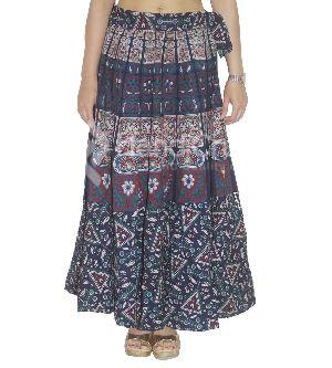 Ethnic Mandala Long Boho Mandala Printed Rapron Skirt