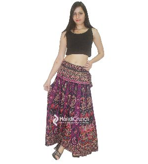 Designer Purple Color Summer Beach Stylish Dress Long Rapron Skirt