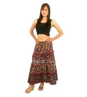 Indian Mandala Cotton Flower Beach Rapron Block Printed Skirt