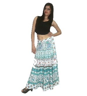 Indian Traditional Printed Boho Women Rapron Skirt