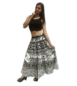 Indian Traditional Printed Boho Women Raprons Skirts