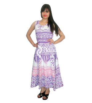 Pink Purple Bohemian Ombre Print Casual Sleeveless Evening Prom Gowns Maxi Dress
