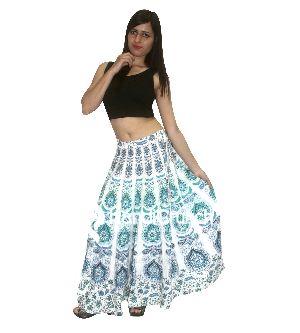 Designer Long Wrap Skirt