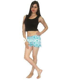 Women's Casual Shorts Cotton Mandala Beach Summer Mini Pants