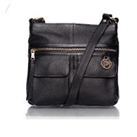 ladies cross body bag in real leather.