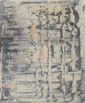 Handmade Wool Silk Oxidized Rugs