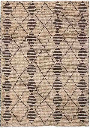 Semi Bleach Hand Woven Jute Loop Carpets