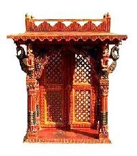 Handcrafted Wooden Jharokha