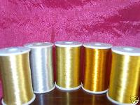 metallic embroidery threads
