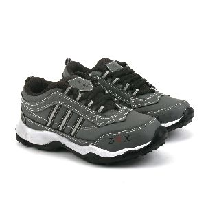 Kids Grey & Black Shoes