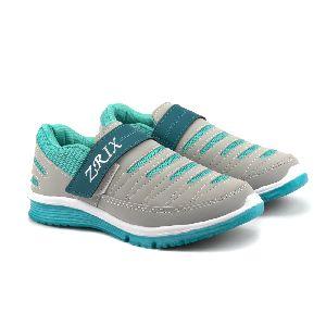 Ladies Grey & Sea Shoes
