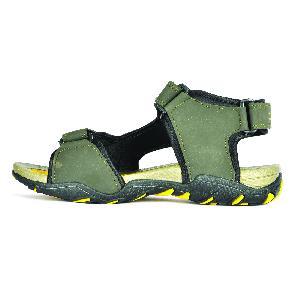 Sdz 101 Mens Mehndi & Yellow Sandals