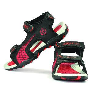 Sdz 101 Mens Black & Red Sandals