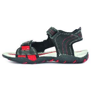 SDZ 102 Mens Black & Red Sandals